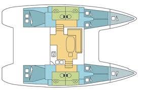 hut 40 voet lagoon catamaran crew cabin 1 persoon