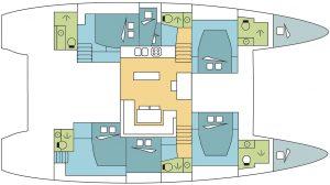 hut 52 voet catamaran - crew cabin 1 persoon